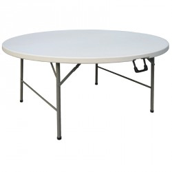 Table ronde pliable par le centre