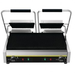 Gril de contact rainuré pour grillades et paninis, simple,double ou grand modèle