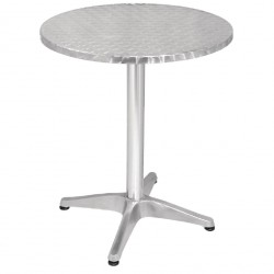 Table ronde en inox anti-rouille