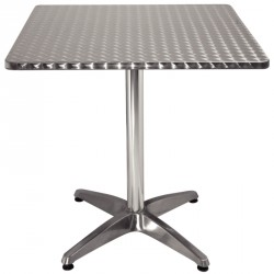 Table carrée en inox anti-rouille