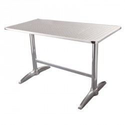 Table rectangulaire en inox anti-rouille