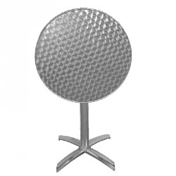 Table ronde plateau basculant en inox anti-rouille
