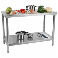 Table inox 100cm sans rebord