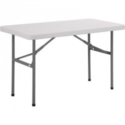 Table rectangulaire pliante blanche 120cm, 150cm ou 180cm