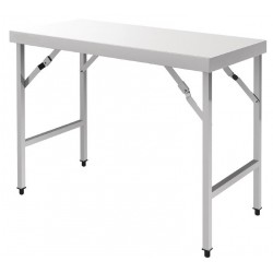 Table pliante en inox longueur 120 cm
