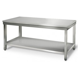 Table inox 200cm sans rebord