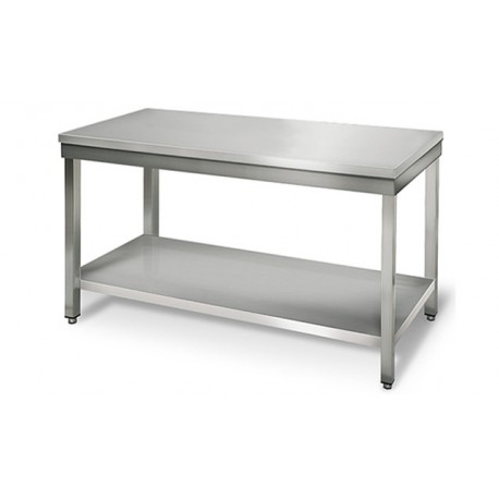 Table en inox centrale 140 cm