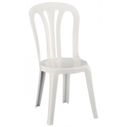 Chaises empilables blanches