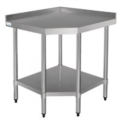 Table d'angle en inox (L)80 x (P)60 cm
